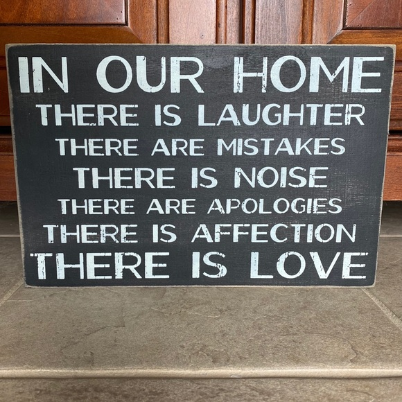Kohl's Other - In our home wooden sign